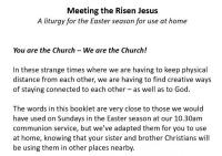 Eastertide Service for home use