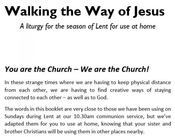 Service Booklet for Lent for home use