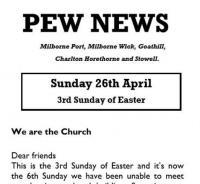 Pew News for 26 April 2020