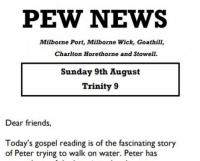 Pew News for 9 August 2020