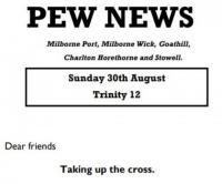 Pew News for 30 August 2020