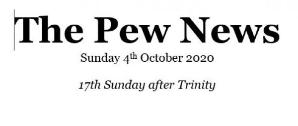 Pew News for 4 October 2020