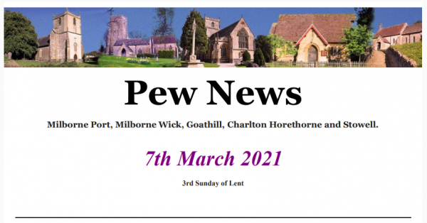 Pew News for 7 March 2021