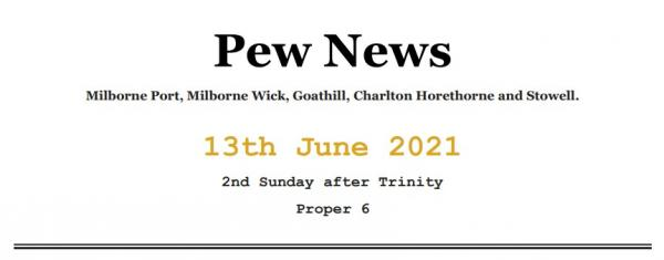Pew News for 13 June 2021