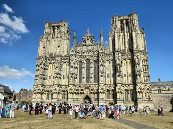 Wells Cathedral at the end of the service