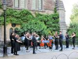 A string orchestra playing