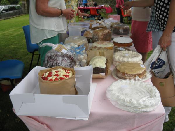 Cake stall for the 2016 Church Fete