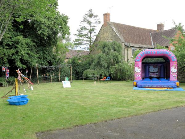 Children's area ready for the fete to begin