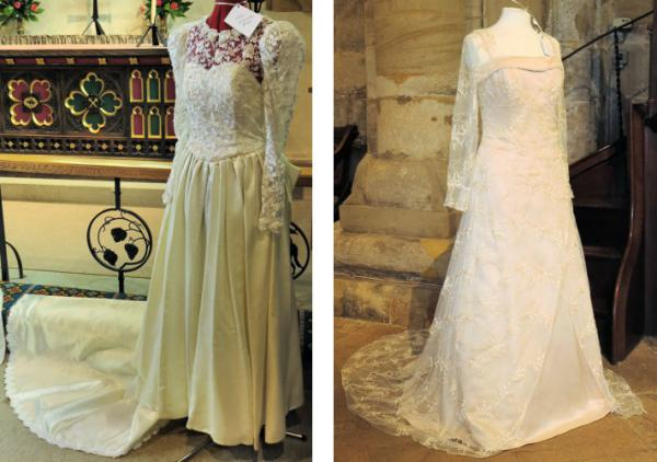 Wedding dresses 1991 & 2005